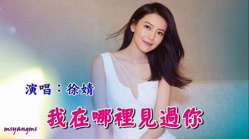 Wo Zai Na Li Jian Guo Ni 我在哪里见过你 Where Have I Seen You Before Lyrics 歌詞 With Pinyin By Xu Jing 徐婧