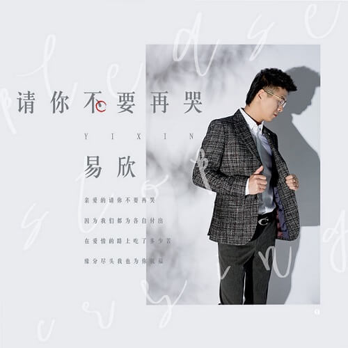 Qing Ni Bu Yao Zai Ku 请你不要再哭 Please Don't Cry Lyrics 歌詞 With Pinyin By Yi Xin 易欣