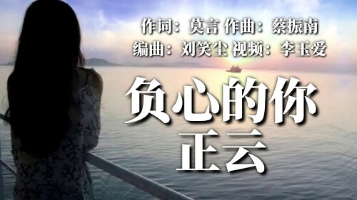 Fu Xin De Ni 负心的你 You Are Guilty Lyrics 歌詞 With Pinyin By Zheng Yun 正云
