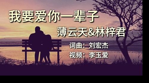 Wo Yao Ai Ni Yi Bei Zi 我要爱你一辈子 I Want To Love You Forever Lyrics 歌詞 With Pinyin By Bao Yun Tian 薄云天 Lin Zi Jun 林梓君