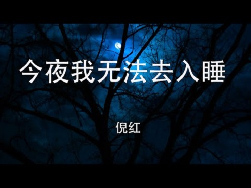 Jin Ye Wo Wu Fa Qu Ru Shui 今夜我无法去入睡 I Can't Go To Sleep Tonight Lyrics 歌詞 With Pinyin