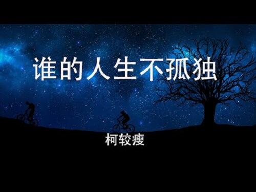 Shui De Ren Sheng Bu Gu Tu 谁的人生不孤独 Who Is Not Alone In Life Lyrics 歌詞 With Pinyin