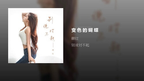 Bian Se De Hu Die 变色的蝴蝶 Discoloured Butterfly Lyrics 歌詞 With Pinyin