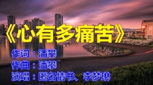 Xin You Duo Tong Ku 心有多痛苦 How Painful Is The Heart Lyrics 歌詞 With Pinyin