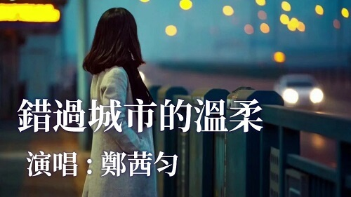 Cuo Guo Cheng Shi De Wen Rou 错过城市的温柔 Miss The Tenderness Of The City Lyrics 歌詞 With Pinyin