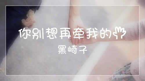 Ni Bie Xiang Zai Qian Wo De Shou 你别想再牵我的手 You Will Never Hold My Hand Again Lyrics 歌詞 With Pinyin