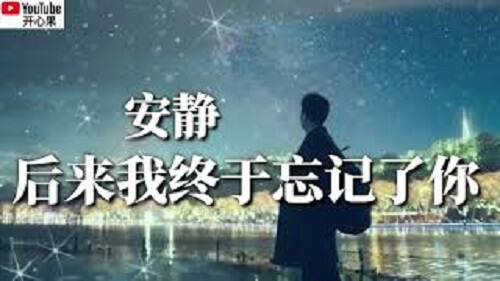 Hou Lai Wo Zhong Yu Wang Ji Le Ni 后来我终于忘记了你 Then I Finally Forgot You Lyrics 歌詞 With Pinyin