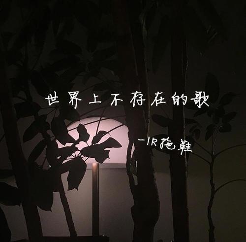 Shi Jie Shang Bu Cun Zai De Ge 世界上不存在的歌 Songs That Don't Exist In The World Lyrics 歌詞 With Pinyin By Zhao Ying Jun 赵英俊 Zhao Ying-Jun