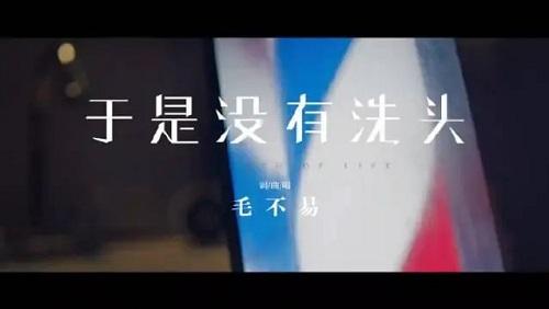 Yu Shi Mei You Xi Tou 于是没有洗头 So I Didn't Wash My Hair Lyrics 歌詞 With Pinyin By Mao Bu Yi 毛不易 Mao Buyi
